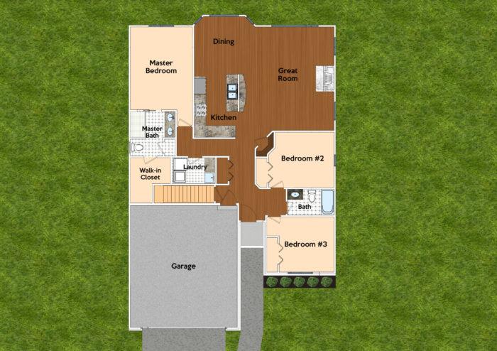 Red Oak - First Floor