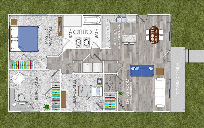 Oakridge Grey - Floor Plan