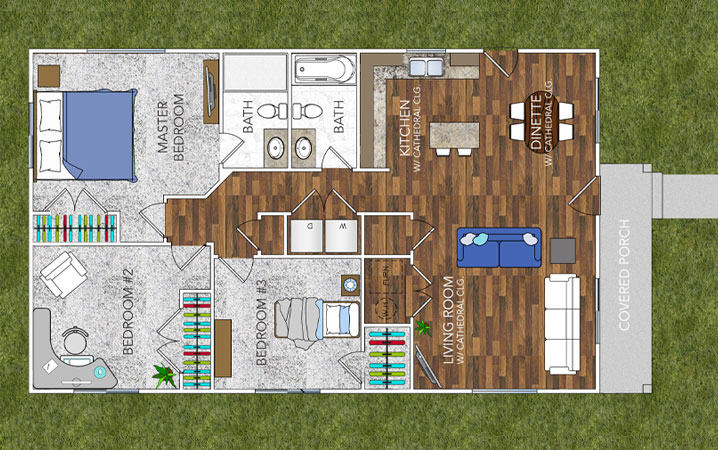 Oakridge Tan - Floor Plan